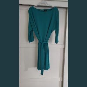 Turquoise Ann Taylor Belt Dress